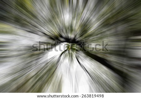 motion of shadow  - stock photo