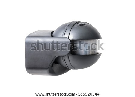 Motion sensor. Microstock photo on white background - stock photo
