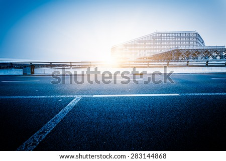 motion traffic at shenzhen airport. - stock photo