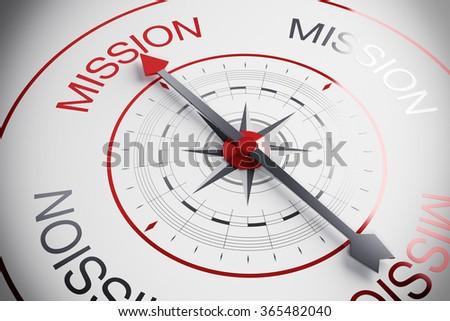 Motivation compass - stock photo
