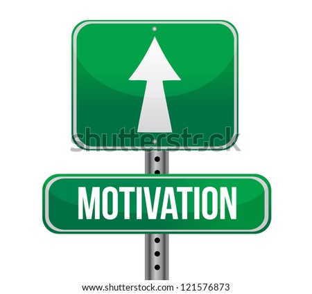 motivation green sign illustration design over white