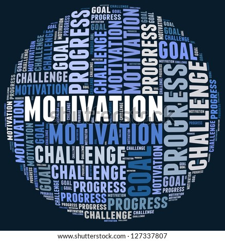 Motivation in word cloud