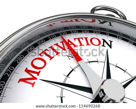 motivation red word indicated by compass conceptual image on white background - stock photo