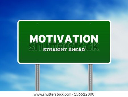 Motivation Street Sign - stock photo