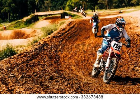 Motocross Championship - stock photo