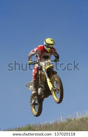 Motocross Jump - stock photo