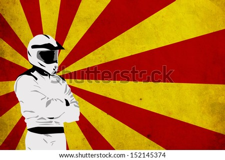Motocross or quad poster background with space - stock photo