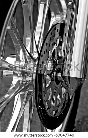 Motor bike detail - Wheel and rotor