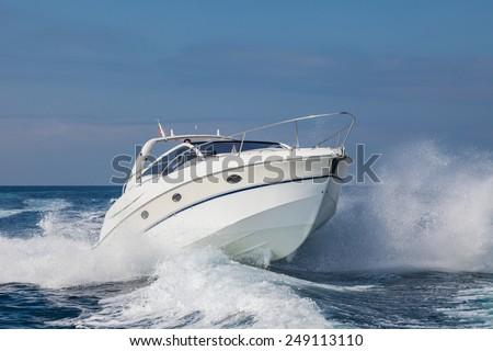 motor boat - stock photo