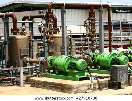 motor equipment in factory for water pump