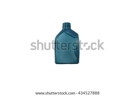 Motor oil can isolated on white background