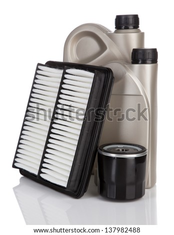 Motor oil containers - stock photo