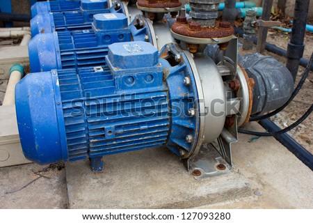 motor pump water electric - stock photo