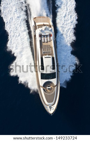 motor yacht, boat - stock photo