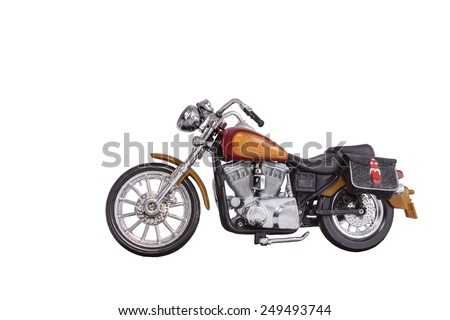 motorbike model on a white background - stock photo
