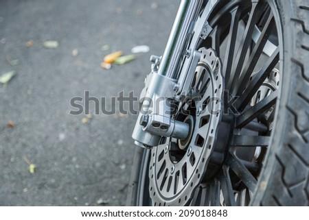 Motorcycle detail - stock photo