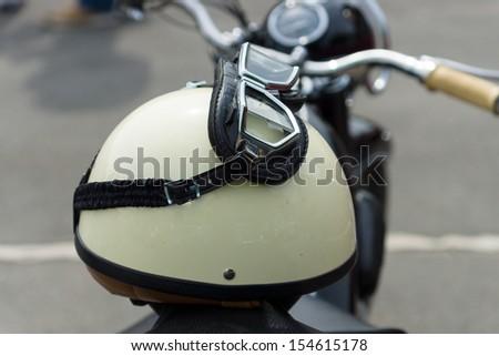 Motorcycle helmet. - stock photo