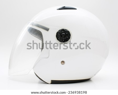 Motorcycle helmet, hood closed