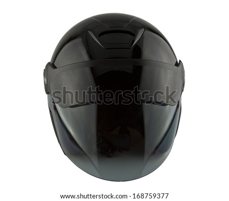 motorcycle helmet isolated on the white background