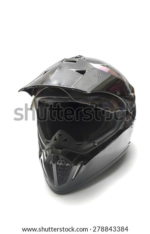 motorcycle helmet isolated on white background