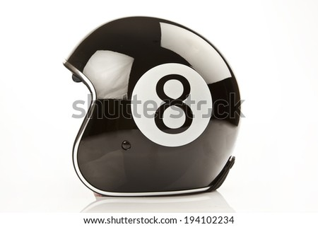 Motorcycle Helmet isolated white background - stock photo