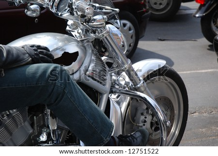 Motorcycle on the street - stock photo