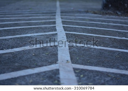 Motorcycle parking line. - stock photo
