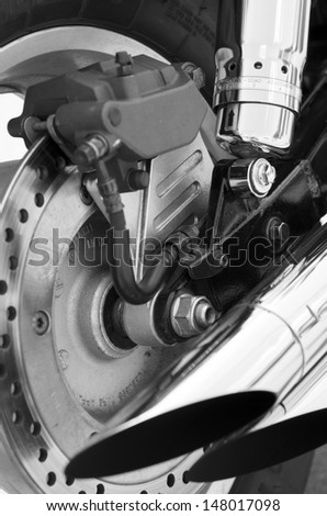 motorcycle parts on a background - stock photo