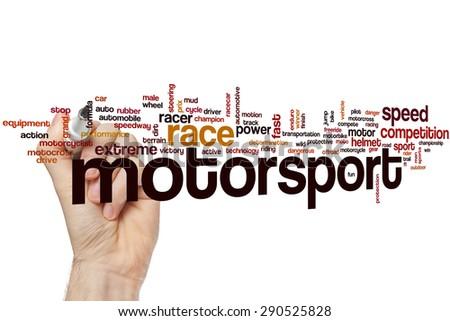 Motorsport word cloud concept - stock photo