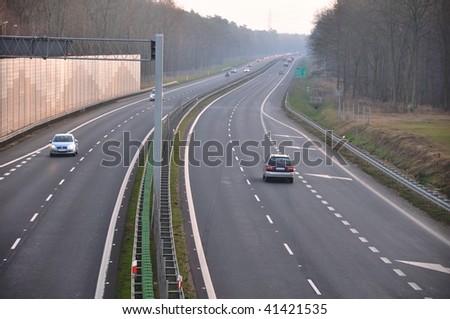 Motorway - stock photo