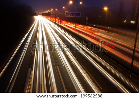Motorway during Rush Hour in Berlin Germany - stock photo