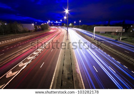 Motorway Trails - stock photo