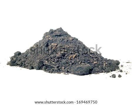 mound of soil - stock photo