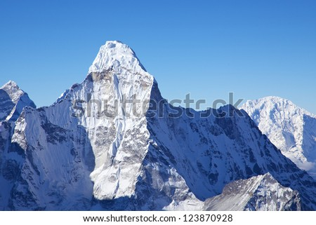 Mount Ama Dablam, view from Island Peak summit, Nepal