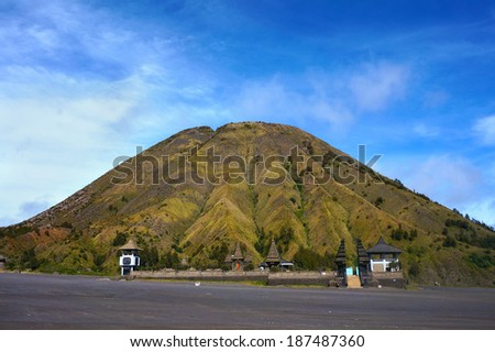 Mount Batuk volcanoes in Bromo Tengger Semeru National Park, East Java, Indonesia. - stock photo