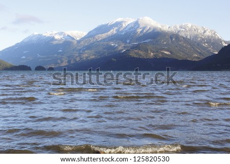 Mount Breakenridge overlooks Harrison Lake in British Columbia's south coast/Harrison Lake and Mount Breakenridge/Mount Breakenridge overlooks Harrison Lake in British Columbia's south coast