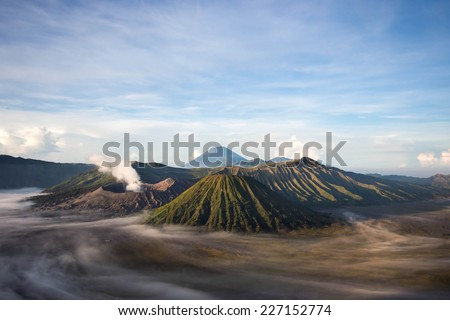Mount Bromo, Java, Indonesia.  - stock photo