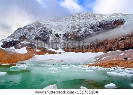 Mount Edith Cavell Jasper National Park - stock photo