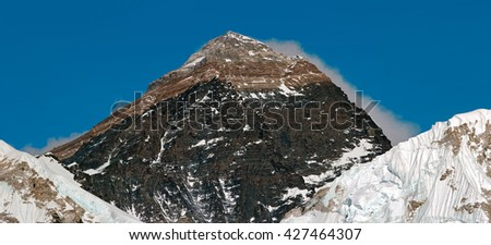 Mount Everest (8848 m) in the evening. View from Kala Patthar - Nepal, Himalayas