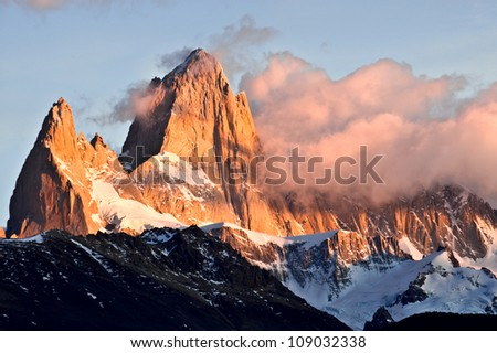 Mount Fitz Roy, Glaciers National Park Argentina, Patagonia - stock photo