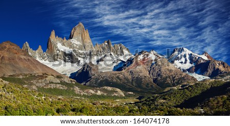 Mount Fitz Roy, Los Glaciares National Park, Patagonia, Argentina - stock photo