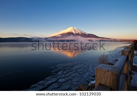 Mount Fuji. - stock photo