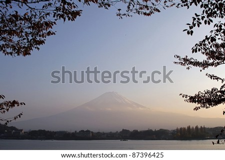 Mount Fuji at sunrise, Japan - stock photo