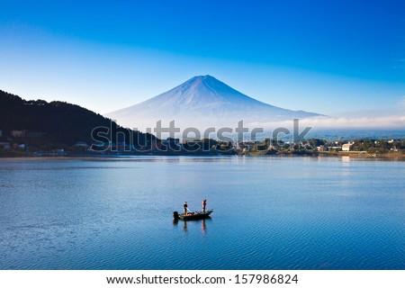 Mount Fuji, japan - stock photo