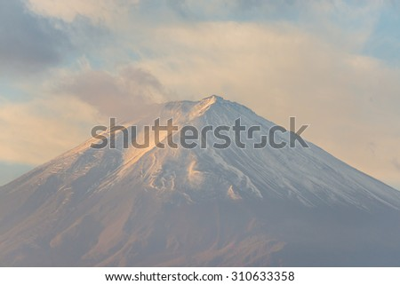 Mount fuji,japan. - stock photo