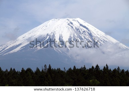 Mount Fuji peak, Japan  - stock photo