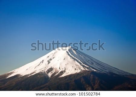 Mount Fuji with snow-covered, Yamanashi, Japan - stock photo
