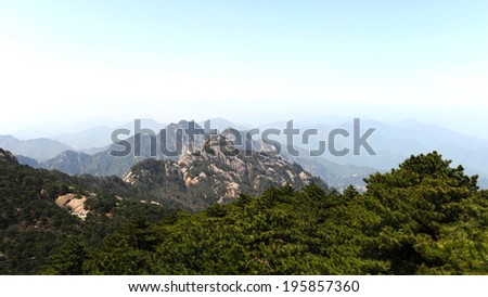 Mount Huangshan - stock photo