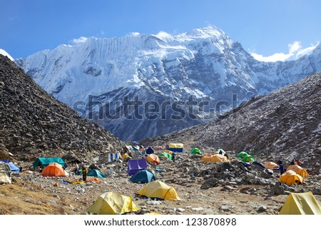 Mount Island Peak (Imja Tse) base camp, Nepal