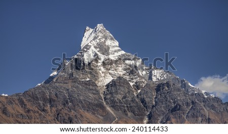 mount machapuchare located in the annapurna mountain range nepal